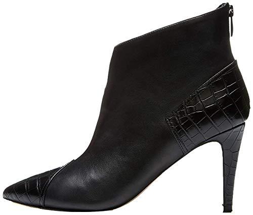 find. Contrast Heel, Botines Mujer, Negro (Black), 40 EU