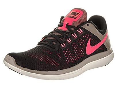 Nike Women's Flex 2016 RN Running Shoe, Black/Hot Punch/Dark Mushroom/Sail, 10 B(M) US