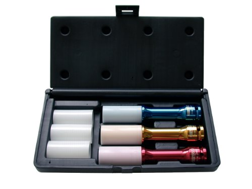 KS Tools 515.1040 Pack Llaves de Vasos Especiales para Ruedas (150 mm, 17-21 mm, 1/2'), Set de 6 Piezas