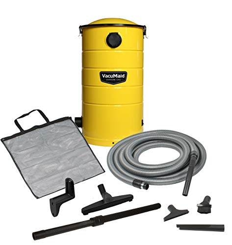 VacuMaid Wall Mounted GV30Y Yellow Garage and Car Vacuum with 30 ft. Hose and Tools.