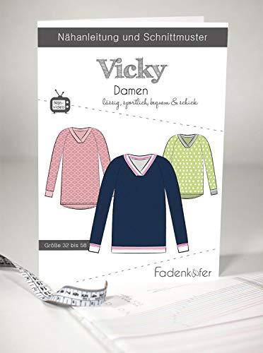 Schnittmuster Fadenkäfer Vicky Damen Gr.32-58 Papierschnittmuster
