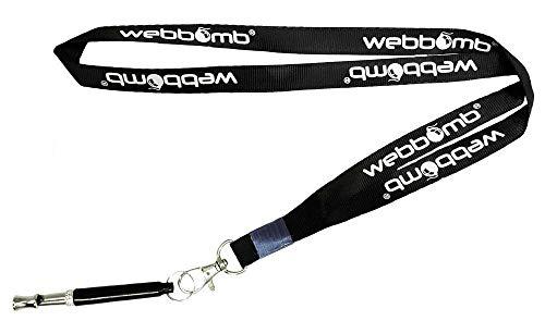 webbomb® Hochfrequenzpfeife Ultraschall Hundepfeife Ultraschallpfeife für Hunde inklusive Umhänge-Band | mit individuell einstellbaren Frequenzen für einfaches Hundetraining & Welpen-Erziehung