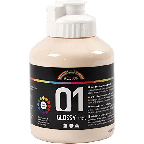A-Color Pintura Acrílica Color Piel 01 - Brillante, 500 ml
