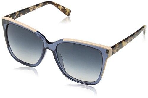 FURLA Eyewear Donna N/A Occhiali da sole, Multicolore (Shiny Transparent Azure), 55