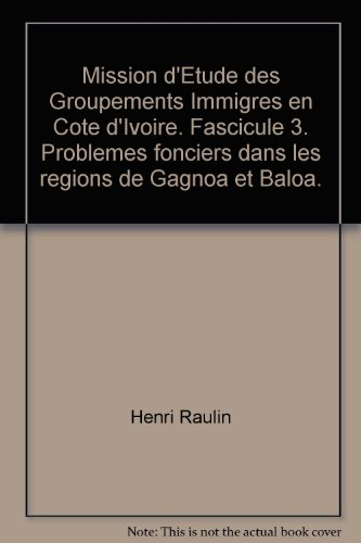small Immigrants from the Mission Detude de Group in Côte d'Ivoire. Facility 3. The problem is Dan …