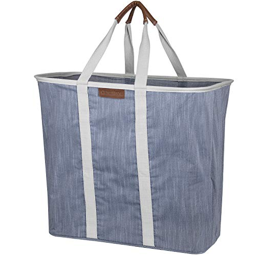 Collapsible Laundry Tote Bag - Premium Pop-Up Utility Storage Basket