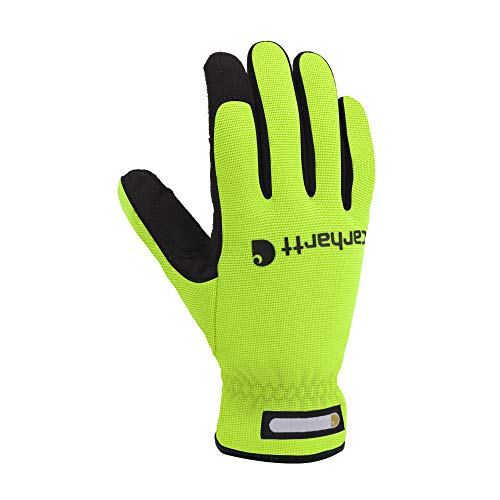 Carhartt Men s Flex Spandex Work Glove with Water Repellant Palm, High Vis Lime, MD