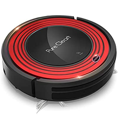 Robot Vacuum Cleaner and Dock - 1500pa Suction w/ Scheduling Activation and Charging Dock - Robotic Auto Home Cleaning for Carpet Hardwood Floor Pet Hair & Allergies Friendly - Pure Clean PUCRC95