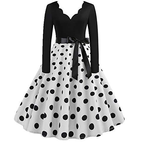 N\P Vestido de invierno para mujer, color negro