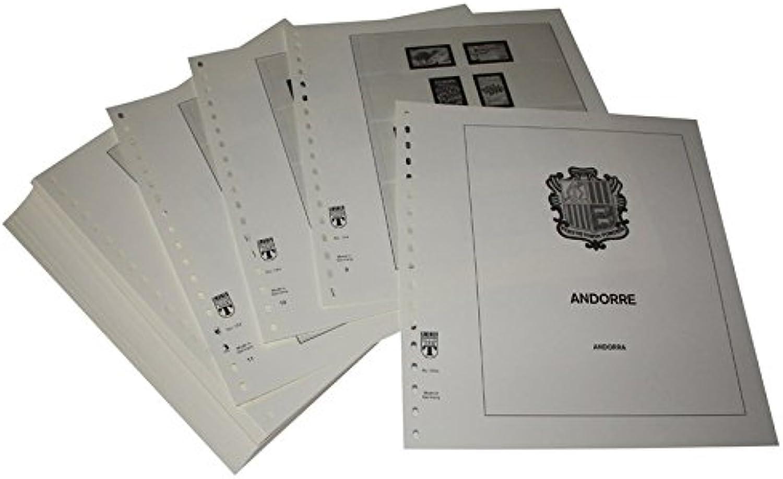 LINDNER Das Original Andorra Franzsische Post - Vordruckalbum Jahrgang 1972-2007