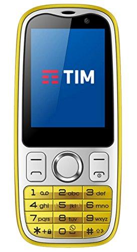 Tim 773579 Easy 4G Smartphone, Marchio Tim, 2 GB, Giallo [Italia]