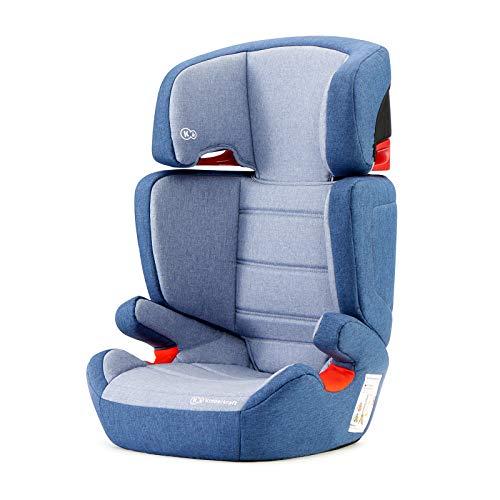 Kinderkraft Seggiolino Auto JUNIOR FIX, con Isofix, Poggiatesta Regolabile, per Bambini, Gruppo 2/3, 15-36 Kg, Blu