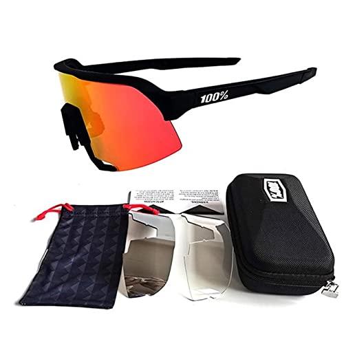 ZHOUSAN Gafas de sol Negro Cocinar Ciclismo Gafas UV400 MTB Bicicleta Equitación TR90 Deporte al aire libre Polarizado Gafas