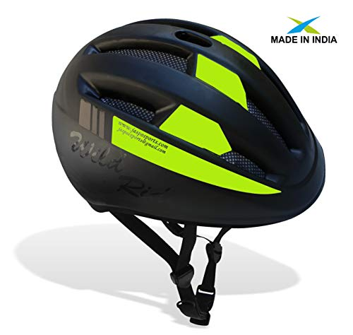 jaspo Multi Utility Sports Helmet for Cycling, Skating, Skateboarding (Green - Black, Large)