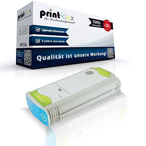 Print Klex Tintenpatrone kompatibel fur HP DesignJet Z 3100 Series DesignJet Z 3200 DesignJet Z 3200 24 Inch DesignJet Z 3200 44 Inch DesignJet Z 3200 PS 24 Inch C9452A 70 Cyan Blau Office Print Se