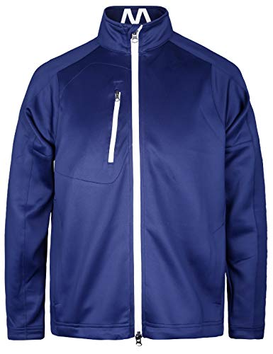 Bakery - Chaqueta de golf para hombre, con bolsillos en contraste y cremallera frontal -  Azul -  Medium
