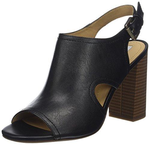 Geox Damen D AUDALIES HIGH Sandalo B Peeptoe Sandalen, Schwarz (Black), 36 EU