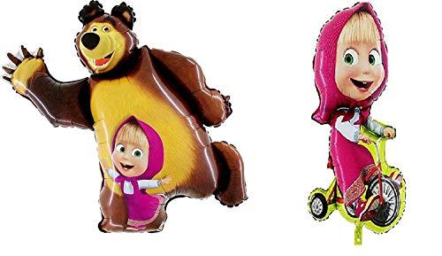 Masha y el oso deben tener un conjunto de dos globos, para suministros de fiesta y cumpleaños