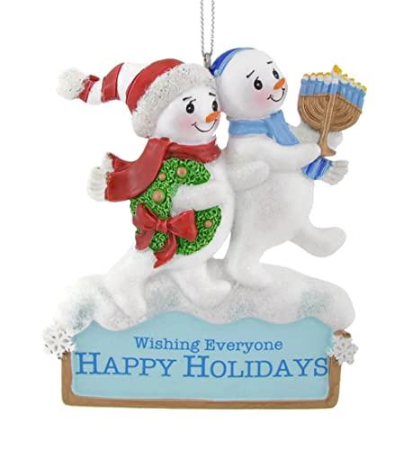 Kurt Adler Resin Hanukkah Snowman Ornament 4' Standard