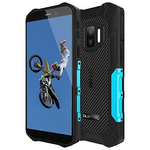 OUKITEL WP12 Rugged Smartphone Economici 2021, Android 11 Display 5.5'',13MP+2MP+2MP Camera,4GB +32GB Cellulari Offerte, IP68 Impermeabile Antiurto,Batteria 4000mAh, Dual SIM/NFC/OTG Telefono Blu