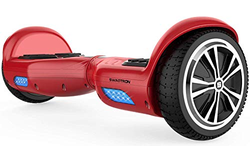 SWAGTRON T881 Lithium-Free and UL2272 Certified Hoverboard with Startup Balancing, Dual 250W Motors, and SentryShield Quantum Battery Protection (Red)
