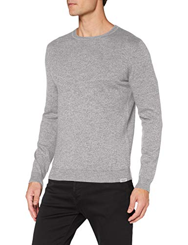 TOM TAILOR Herren Modern Basic Pullover, 24206-light Grey White mou, M