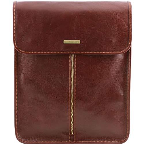 Tuscany Leather Exclusive Housse pour Chemises en Cuir Marron