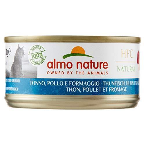 HFC Almo Nature Cuisine avec Poulet, Thon et Fromage 70 g 1 boîte