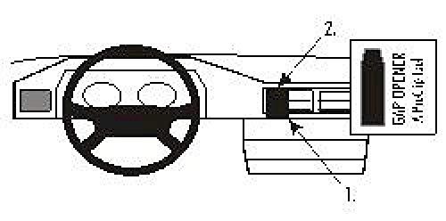 Brodit 852015 ProClip Halterung, schwarz