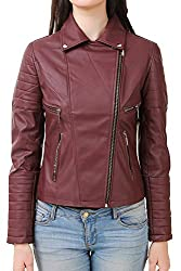 DELHITRADERSS® Stylish Girls/Ladies/Women Slim Fit Zipper Design Winter Jacket(Code-Mehroon)(Size-L)