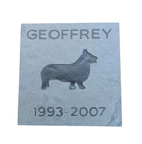 Pet Memorial Stone, 6 x 6 Slate, Garden Memorial Grave Marker All Breeds Available