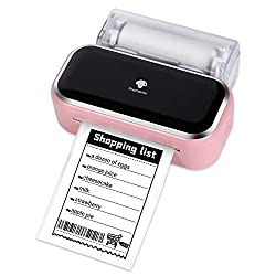 Impression 3 pouces - L'imprimante Phomemo M03 Handy est une imprimante photo noir et blanc. Compatible avec du papier de 53 mm et 80 mm de large. Il peut vous fournir un effet d'impression plus clair et plus texturé! Convient pour l'impression de ph...