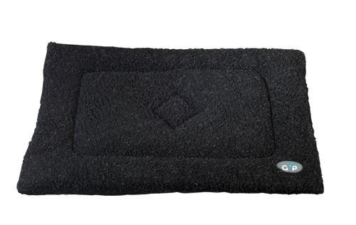 Gor Pets Washabe Sherpa Cage Mat for Dog Cat Crate, 46 x 61 cm, Black