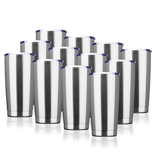 EcoMozz 20oz Tumbler Stainless Steel Vacuum Insulated Mug with Lid, Double Wall Travel Mug, Durable...
