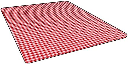lowest price HJHQQ-CZYHG Red and Max 77% OFF White Squares Moisture-Proof Wild Food Blank