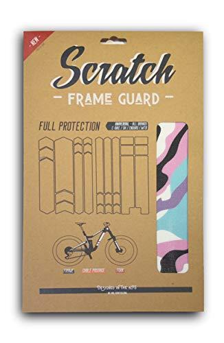 G-Power Scratch - Protección completa para cuadro de bicicleta de montaña, protege tu marco, horquilla y paso de cables de tu bicicleta. Kit universal para DH, VTT, Enduro, All Mountain.