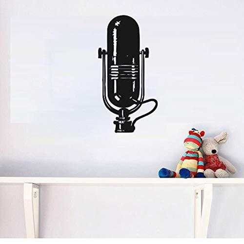 Tianpengyuanshuai Muursticker muziek microfoon decoratie huis muur afneembaar muurkunst kinderkamer decoratie school kleuterschool