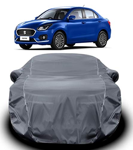 DRIZE Swift Dzire Car Cover Waterproof / Swift Dzire Cover with Triple Stitched Ultra Surface Body Protection (Grey Look)
