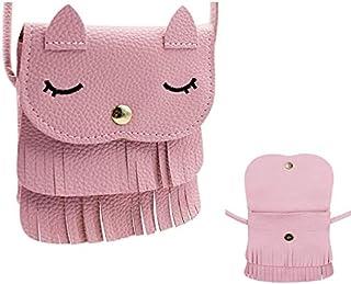 Sohapy Kids Toddlers Cat Tassel Bag Shoulder Crossbody Purse Bag Birthday Gifts Toys for Little Girls Kids Toddlers (Pink ...