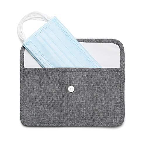 HSJCZMD - Caja de almacenamiento para máscara, para llevar una caja de limpieza a prueba de humedad con usted, material de protección del medio ambiente, clip de almacenamiento de máscaras