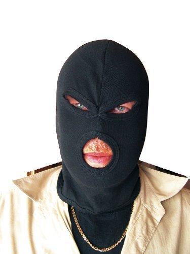 Cagoule 3 trous balaclava 'ninja'tour de cou noir