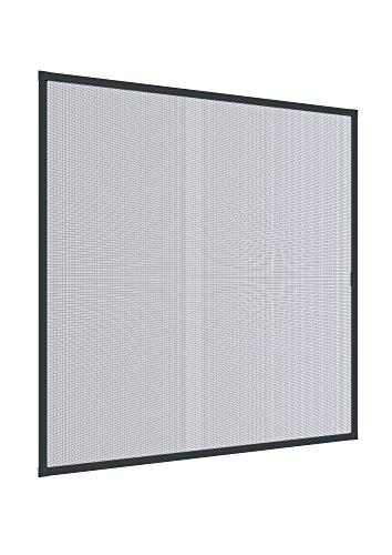 Windhager Insektenschutz Expert Spannrahmen, Fliegengitter Alurahmen für Fenster, 100 x 120 cm, anthrazit, 04337