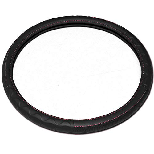 Yupbizauto New 18' Grey Steering Wheel Cover Peterbilt Freightliner Semi Truck (Black)