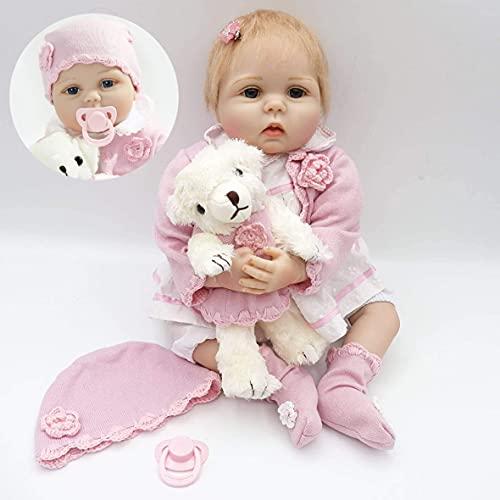 ZIYIUI Realista 22 Pulgadas 55 cm Muñecas Reborn bebé Recién Nacido Silicona Suave de Vinilo Niña Hecha a Mano Regalo de Cumpleaños para Niños