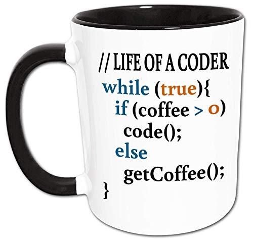 Programmierer Tasse, Kaffee Programmieren Spruch, Geschenkidee Programmierer, Informatiker, Software Entwickler, Java, C++, PHP, Source Code, Programmieren Kaffeetrinker Sprüche Kaffeetasse