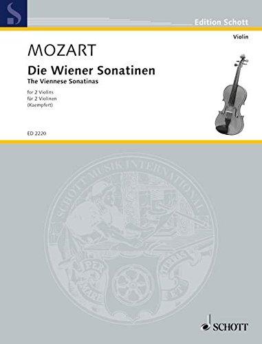 Die Wiener Sonatinen: 2 Violinen. Spielpartitur. (Edition Schott)