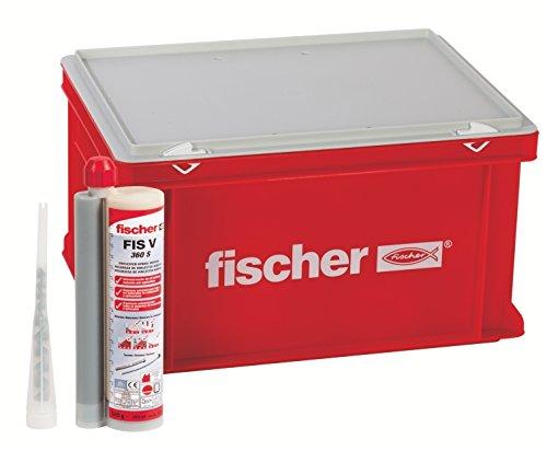 fischer Hochleistungsmörtel FIS V 360 S - Praktischer großer Handwerkerkoffer mit 20 Kartuschen Injektionsmörtel FIS V und 40 Statikmischer FIS MR Plus - 60 - Teile- Art.-Nr. 41835