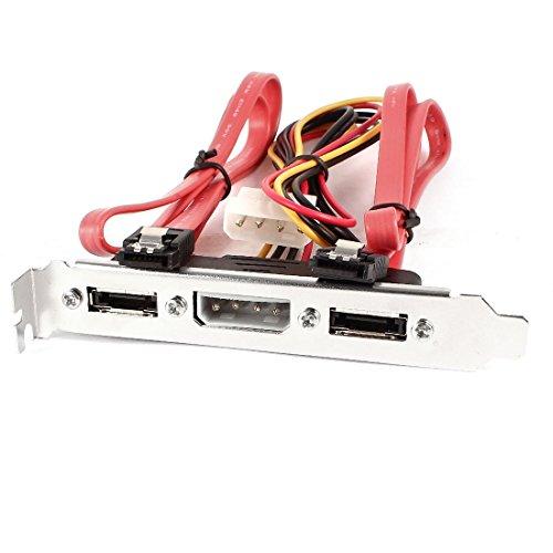 External Plate 2 Port eSATA + 4P IDE Power PCI Bracket Slot SATA Cable