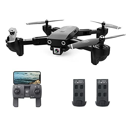 Staright CSJ S166GPS Drone con Fotocamera 1080P Seguimi Ritorno Automatico Home WiFi FPV Foto di gesti in Tempo Reale RC Quadcopter per Adulti con 2 batterie
