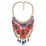 Collar de piedras preciosas de moda para mujeres y niñas, joyería de cumpleaños